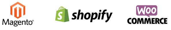 Magento shopify woocommerce